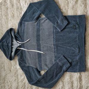 VGUC Terry cloth striped hoodie